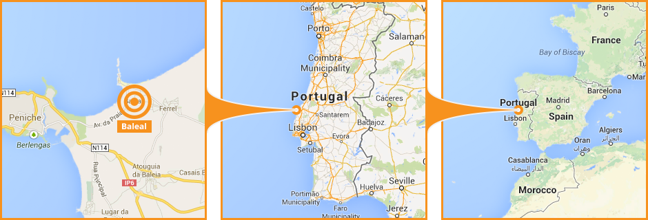 Holiday Rent Portugal Holiday TurnKey Oceanside In Portugal To Rent - Portugal map baleal